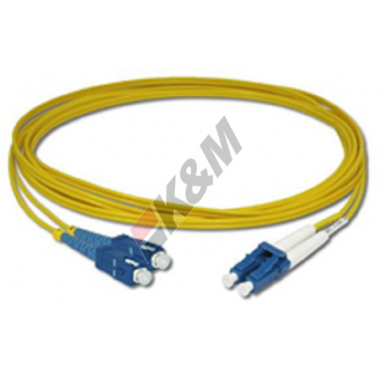 SCPC per PC LC SM DX G652D 2,0 MM LSZH Patch Cord